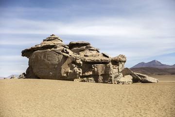 Rock formations of Dali desert in Bolivia