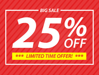 25% big sale off