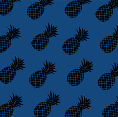Pattern of pineapple illustration. design graphic