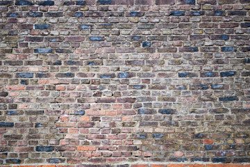 Alte Backsteinmauer, Hintergrund, Textur, Textfreiraum