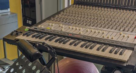 Interior of recording studio in Klatovy city