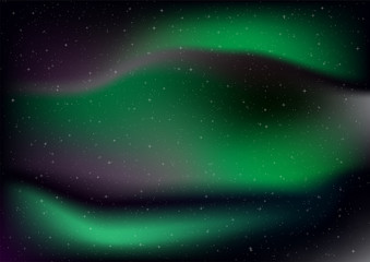 Abstract aurora with star on black background.