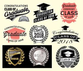 Graduation sector set Class of 2018 Congrats grad Congratulations Graduate