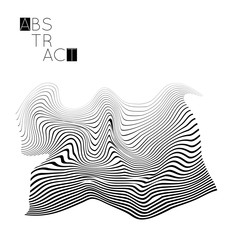 Abstract striped wavy shape