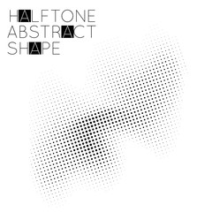 Abstract halftone geometric shape isolated on white background