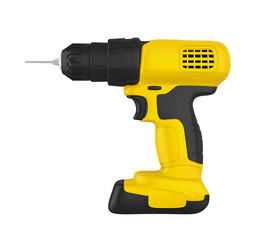 Cordless Drill Isolated