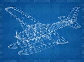 Hydroplane 3D blueprint