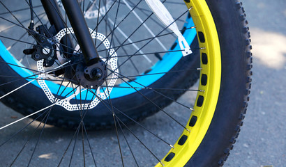 bicycle wheel close-up