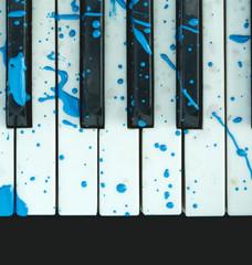 Art, decoration, design, old piano keyboard.