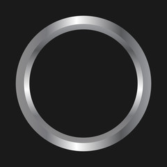 Simple, metal ring icon/illustration. Isolated on a black background