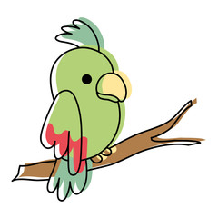 moved color beauty parrot bird animal in the branch