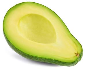 Avocado isolated on white