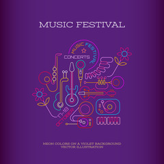 Papiers peints Art abstrait Music Festival banner design