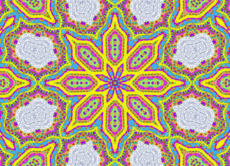 Abstract half-painted outline pattern