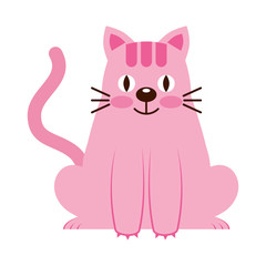 cute little cat icon vector illustration design