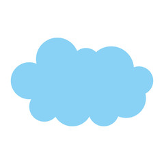 cloud in the sky icon vector illustration design