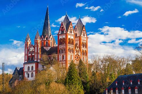 Dom Von Limburg An Der Lahn Hessen Stockfotos Und