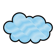 cloud weather climate cumulus icon vector illustration drawing