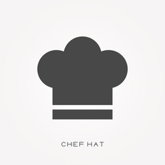 Silhouette icon chef hat