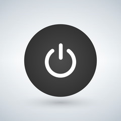 Abstract power button for websites UI or applications. vector illustration isolated on modern background.