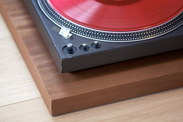 Vintage Record Turntable Player Corner Vinyl Disk