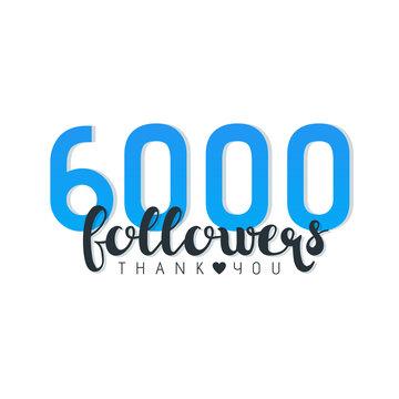 Six Thousand followers banner