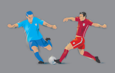 Football soccer players