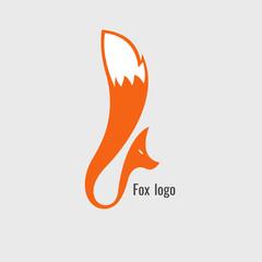 fox Orange logo. modern on white background