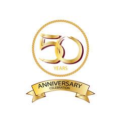 Golden of fiftieth anniversary logo