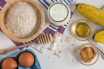 Ingredients for making pancake dough