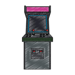 Retro arcade videogame vector illustration graphic design