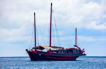 Sailing ship on the sea of Burma.