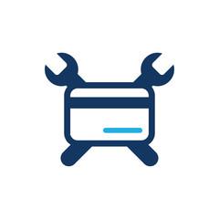 Payment Repair Logo Icon Design