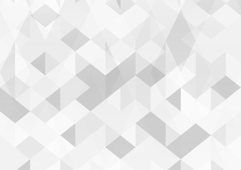 Modern abstract background in polygon shape. Template design in grey and white tone for business presentation, cover, brochure, packaging and web banner.