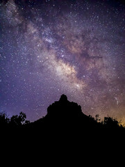 Bell Rock and Milky Way - Sedona, Arizona