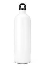 White Aluminum Bike Water Sport Bottle Mockup. 3d Rendering