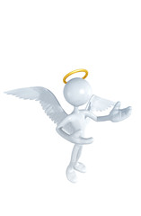 With The Original 3D Character Illustration Angel 3d