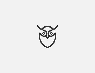 simple owl logo design template