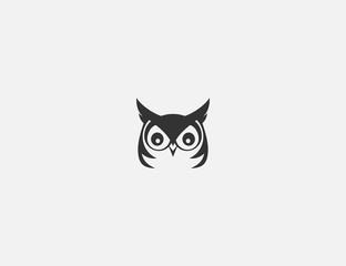 simple owl logo design template