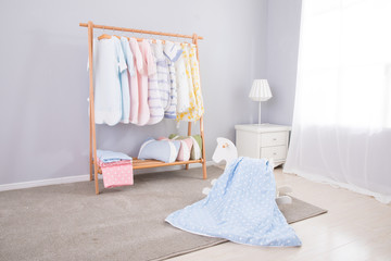 Image of spacious child room with new design furniture