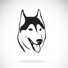Vector of siberian husky dog head design on white background. Pet. Animal. Easy editable layered vector illustration.