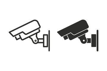 Security camera vector icon.
