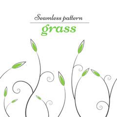 Grass, leaf - green line pattern. Vector eps 10