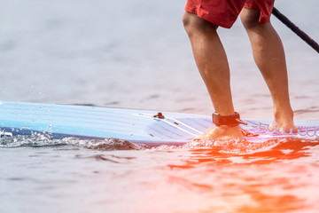 Speed competition on Stand Up Paddle Board