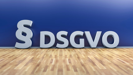 DSGVO - Datenschutzgrundverordnung, Grafischer Hintergrund