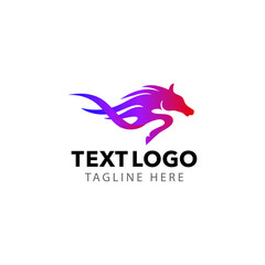 horse logo vector for company business