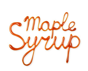 Hand lettering written by liquid maple syrup