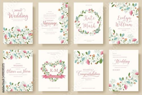 set of flower wedding ornament concept art traditional magazine