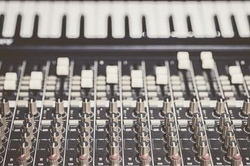 sound mixer & piano keys