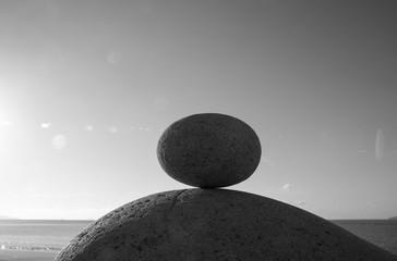 둥근 바위 두 개의 형상